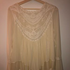 light, flowing top for women; reminiscent